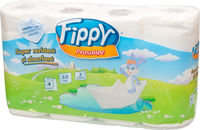 FIPPY Кухонные полотенца 2 слоя 4 рулона  10.5m