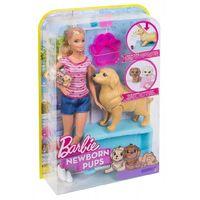 Mattel Барби Кукла и собака с новорожденными щенками