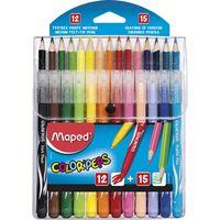 MAPED Набор MAPED Coloring (15 карандашей+12 фломастеров)