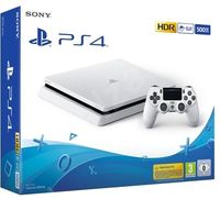 Game Console  Sony Playstation 4 Slim 500GB White, 1 x Gamepad (Dualshock 4)
