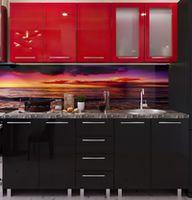 Bucătărie Bafimob Lena (High Gloss) 1.6m Red/Black