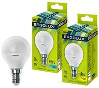 Bec LED Ergolux LED G45 7W E14 4500K