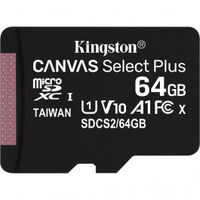 64GB microSD Class10 A1 UHS-I  Kingston Canvas Select Plus, 600x, Up to: 100MB/s