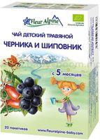 """Fleur Alpine Детский  чай """"Черника и шиповник"""" 30 gr. (5+)"""