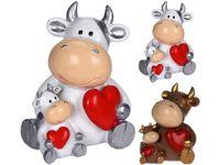 Сувенир Бычок с сердцем Valentine 9X7X6cm, керамика, 2 цвета