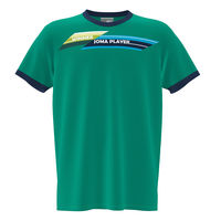Футболка JOMA - SLEEVE T-SHIRT GREEN NAVY