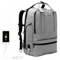 """Городской pюкзак Tigernu T-B3243 для ноутбука 15.6"""", водонепроницаемый, с USB портом, серый"""
