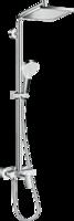 Sistema de  dus hansgrohe Crometta E 240 1jet Showerpipe cu mixer