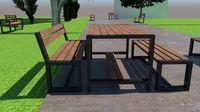 Стол парковый металл+дерево