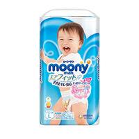 Подгузники-трусики для девочек Moony L (9-14 kg) 54 шт