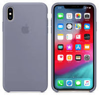 Apple Original Silicone Case Iphone XS Max  , Lavender Gray