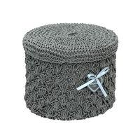 купить Круглая корзина из текстиля 290x220 мм, серый в Кишинёве
