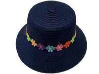 купить Шляпа детская летняя D29cm, с цветами в Кишинёве