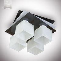 N&B Light Люстра Пиастра 7433-2 черный глянец/белый глянец