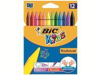 купить Карандаши-мелки цветные Bic Plastidecor 12шт в Кишинёве