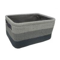cumpără Coș tricot 360x260x180 mm, gri + negru în Chișinău