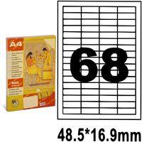 SP Этикетки самоклеющиеся A4, 100 л., 68 шт., 48.5x16.9 мм