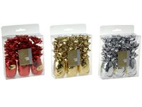 Набор для украшения подарков 15ед: 3 ленты 10mX5mm+12 бант,з