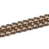 Lanț poșetă, 9x13 mm / auriu