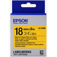C53S655010 Tape Epson LK5YBW Strng adh Blk/Yell 18/9