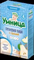 Umnitsa terci de hrișcă cu lapte și pere, 4+ luni, 200 g