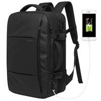 Pюкзак  дорожный BANGE BG1908,  с USB-портом и расширителем, водонепроницаемый, черный