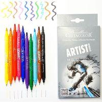 Set de markere pe două fețe 10 buc. Artist Studio - Kalligraphie Cretacolor
