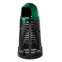 cumpără Tomberon Bobby 100 l, negru cu capac verde în Chișinău