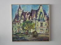 Дворец Будмерице (Словакия), 50x50 см., холст, масло