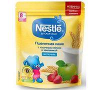 Nestle каша пшеничная молочная с земляникой и яблоком, 8+мес. 220г