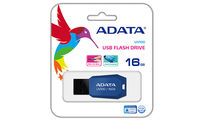 16Gb USB2.0 Flash Drive ADATA, DashDrive UV100, blue