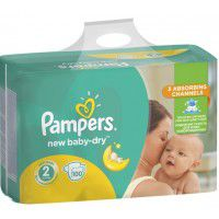 Pampers подгузники Giant Pack 2, 3-6кг. 100шт