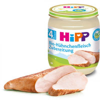 Hipp Bio пюре цыпленок, 4+мес. 125г