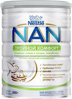 Nestle Nan Тройной комфорт молочная смесь, 0+мес. 800 г