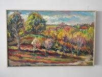 Осенний пейзаж, 38x60 см., холст, масло