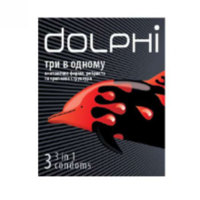 Dolphi презервативы 3 в 1, 3шт