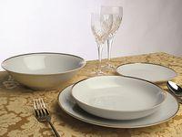 купить Набор посуды Metropol Fascetta 19ед, белый, золотая кайма в Кишинёве