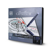 Set de stilouri de caligrafie CRETACOLOR 1 stilou pentru caligrafie, 3 pixuri interschimbabile, 6 cartuse. cu tus