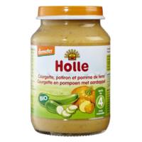 Piure de cartofi, dovleac și dovlecel Holle (6 luni+), 190g