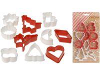 Формы для печенья рождественские Cucina 10 шт, пластик