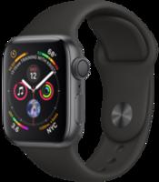 Apple Watch Series 4 44mm Space Grey Aluminium Black Sport Band (MU6D2)