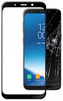 Cellularline Tempered Glass for Samsung Galaxy A8 (2018) curved Black