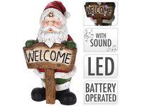 Сувенир LED Дед Мороз 73cm, керамика