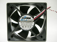Cooler RUILIAN RDM8025S 2-Pin Fan 80x80x25 mm DC 12V 0.11A Speed 2500 RPM Noise 29 dBA 2-Pin connector.