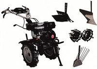 Набор мотоблок TECHNOWORKER HB 704 RS ECO +плуг картофель + плуг регулируемый + плуг простой + металлические колеса 4*8