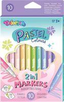 Pastel Markers 2 in 1 Colorino 10 cul