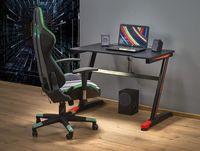 B40 biurko gamingowe czarny / czerwony