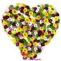 cumpără Inima din crizanteme în Chișinău