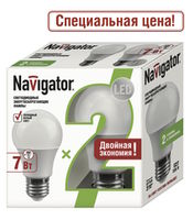 LED (7Wt) NLL-A55-7-230-2.7K-E27/2PACK