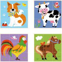 9pcs Stacking Cube Puzzle - Farm Animals